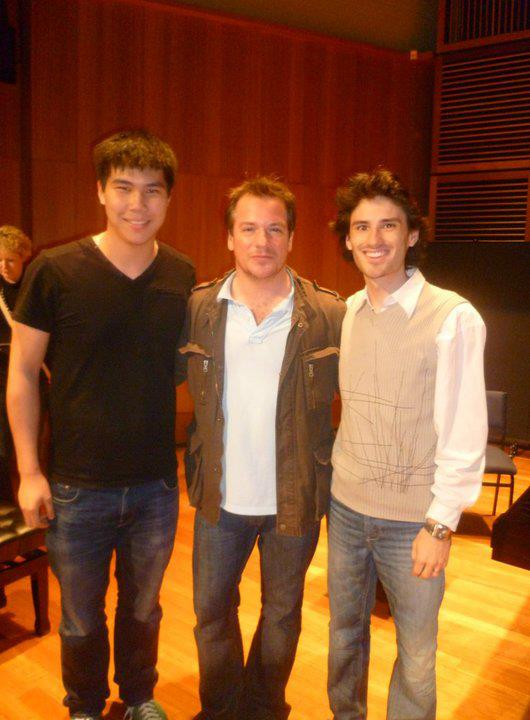 Emmanuel Pahud at the Sydney Conservatorium of Music (with Oliver Baker)