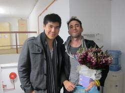 Henry Liang and Sufjan Stevens at the Sy