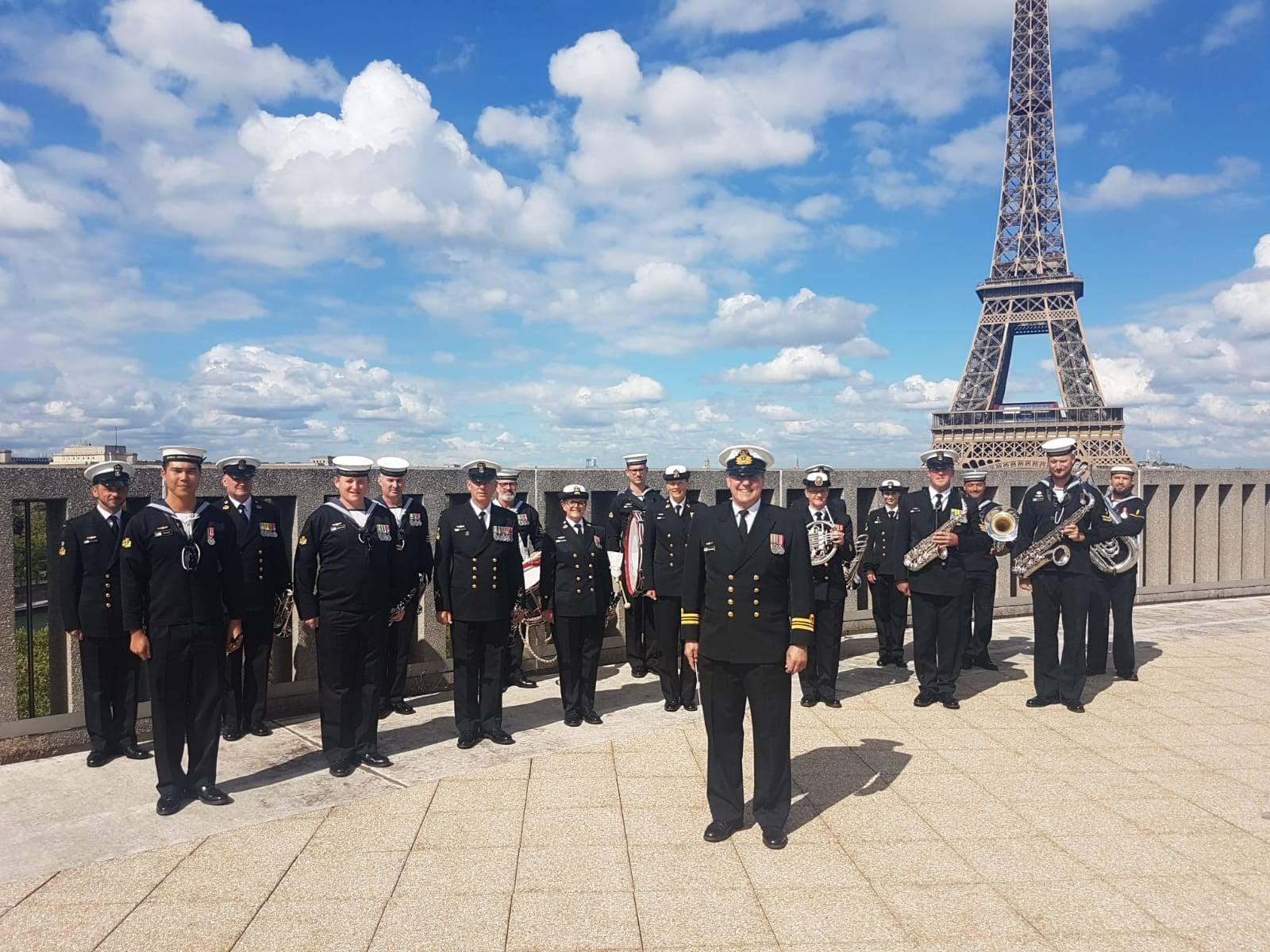 Royal Australian Navy Band in Paris