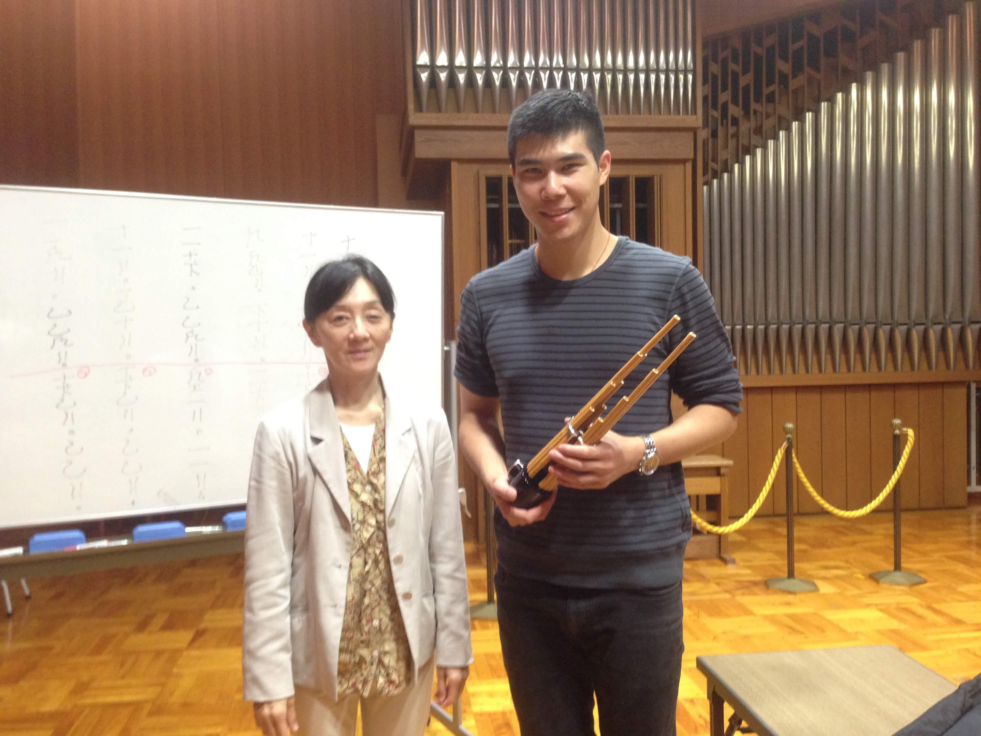 With Mayumi Miyata sensei at The Kunitachi College of Music