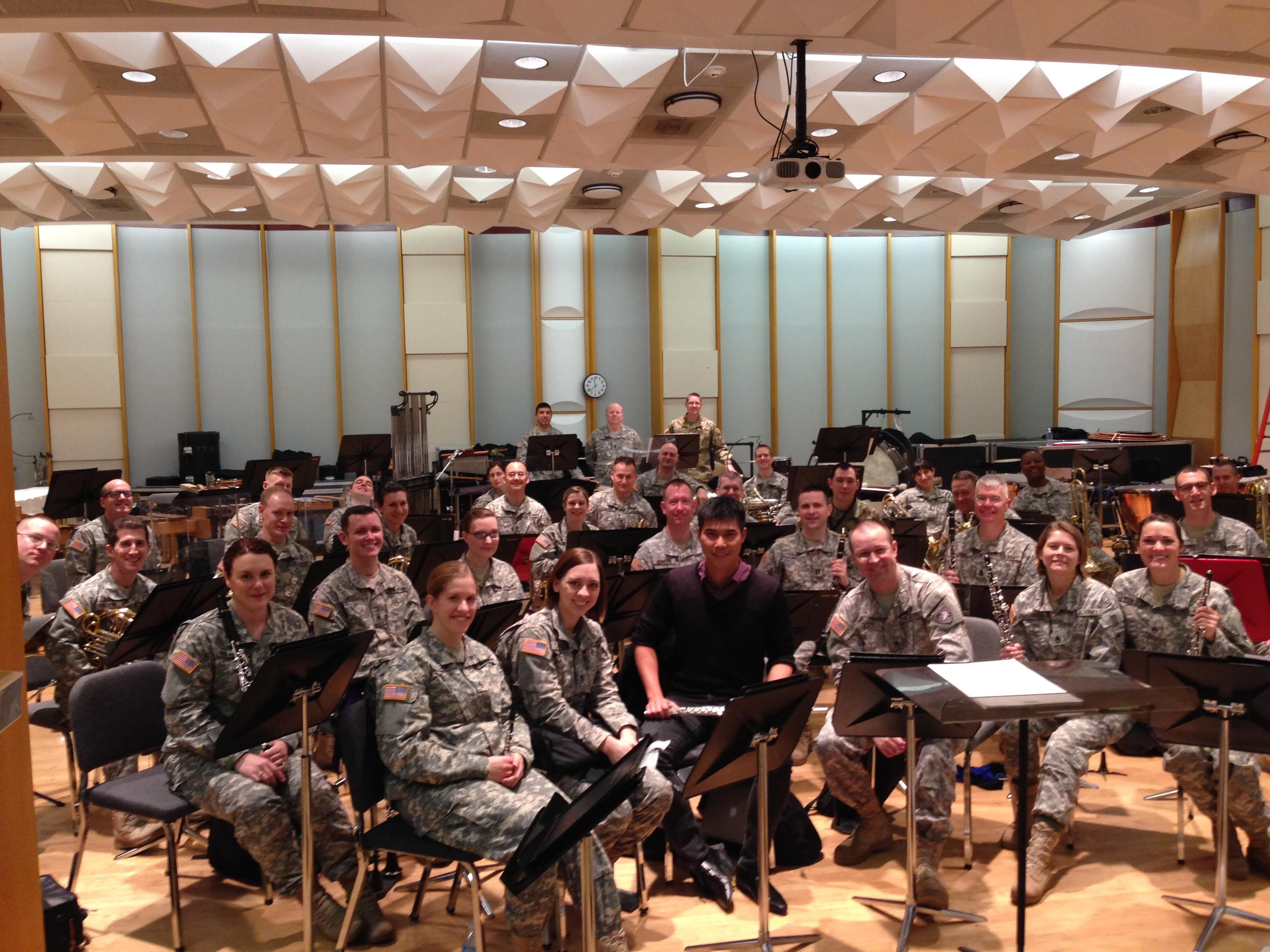 Invitational visit and rehearsal with the wonderful West Point Band in New York