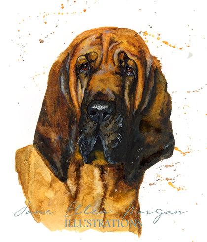 watercolour dog portrait