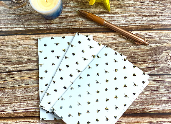 A6 Bee Notebook (pack of 3)