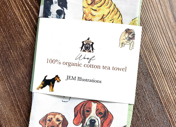 'Woof' Tea Towel