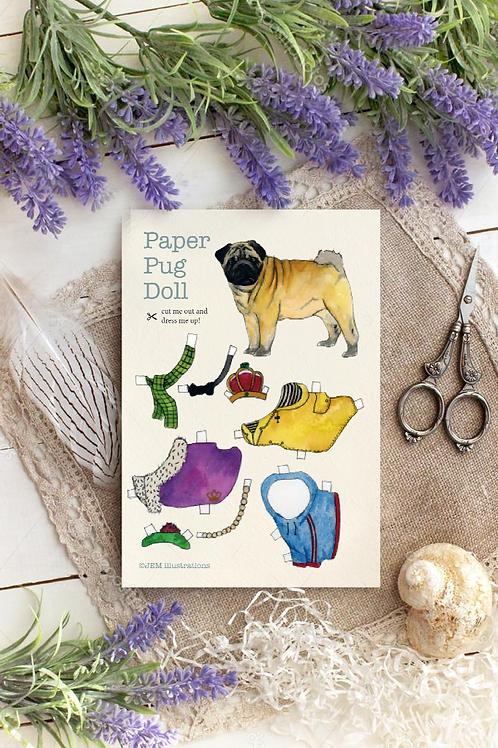 Pug Paper Doll