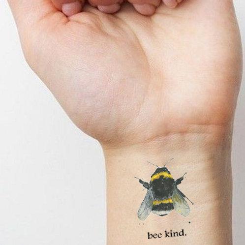 'Bee Kind' Temporary Tattoo