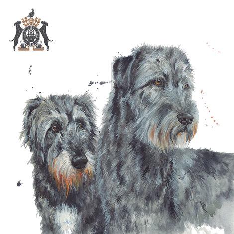dog in watercolour artist