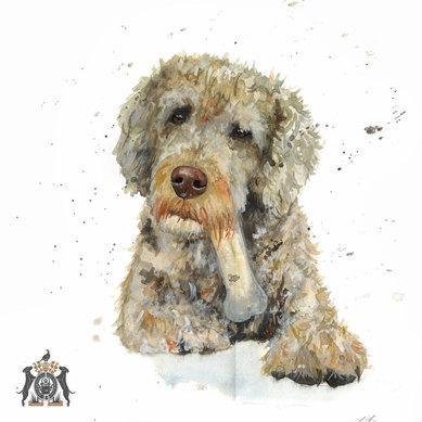 watercolour of dog art