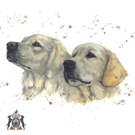 bespoke dog watercolour artist