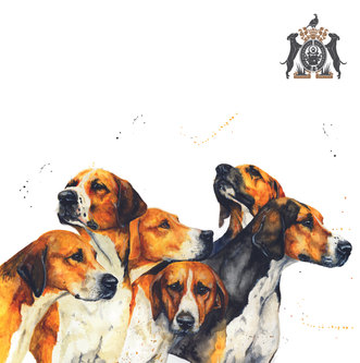 dogs in watercolor