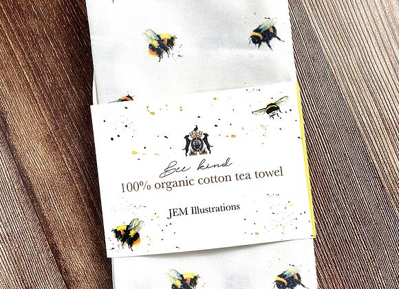 'Bee Kind' Tea Towel