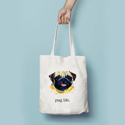 Pug Canvas Bag