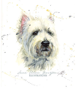 watercolour dog portraits