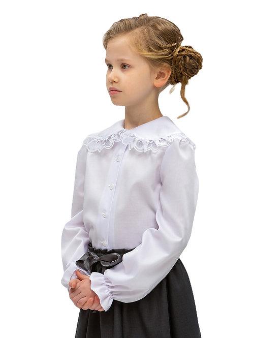 Нарядная блузка с красивым воротником