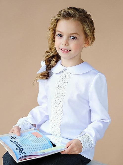 школьная блузка с маленьким белым воротником