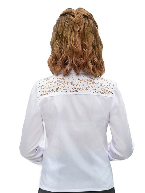 Блузка для девочки белая подростковая
