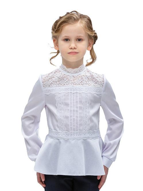 Блузка с баской и бантом на спинке