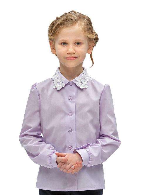 Блузка для девочки с красивым воротником