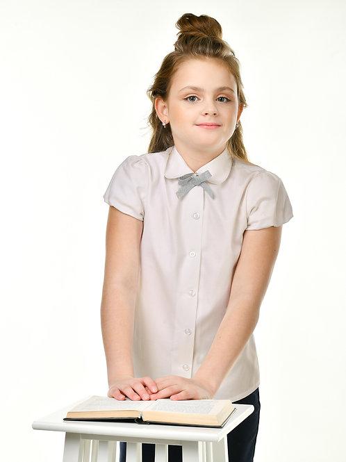 Классическая школьная блузка арт. 11822 айвори.