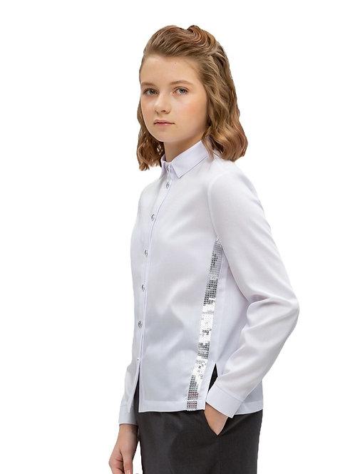 Блузка для девочки подростка белая