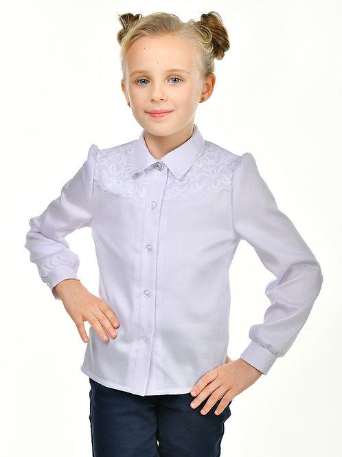 Нарядная школьная блузка с кружевом арт. 10100