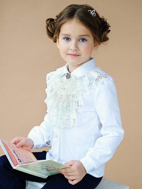 Блузка арт.10814 бел.
