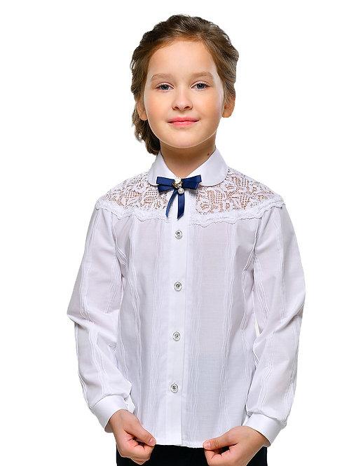 Хлопковая блузка для девочки в школу
