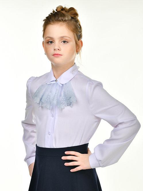 Классическая школьная блузка с жабо.