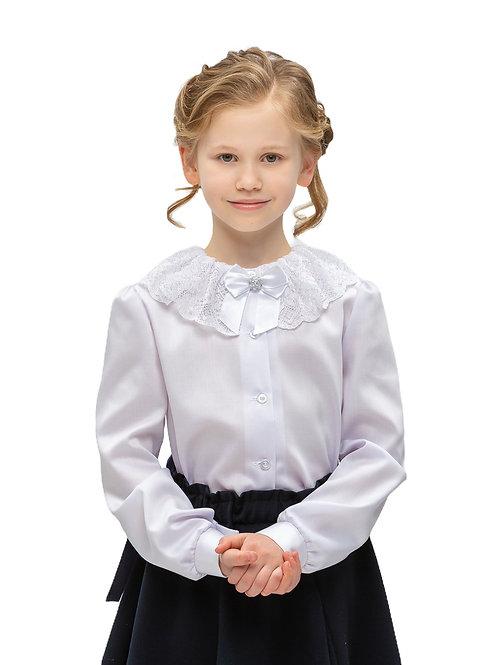 Нарядная блузка для девочки с красивым воротником