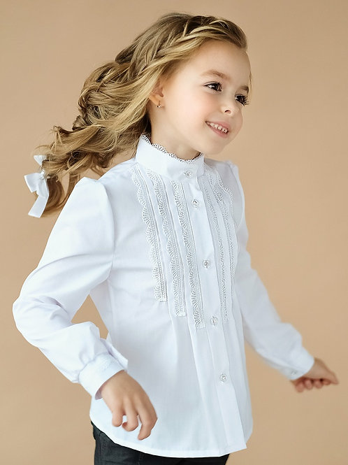 Блузка арт. 10102 бел.