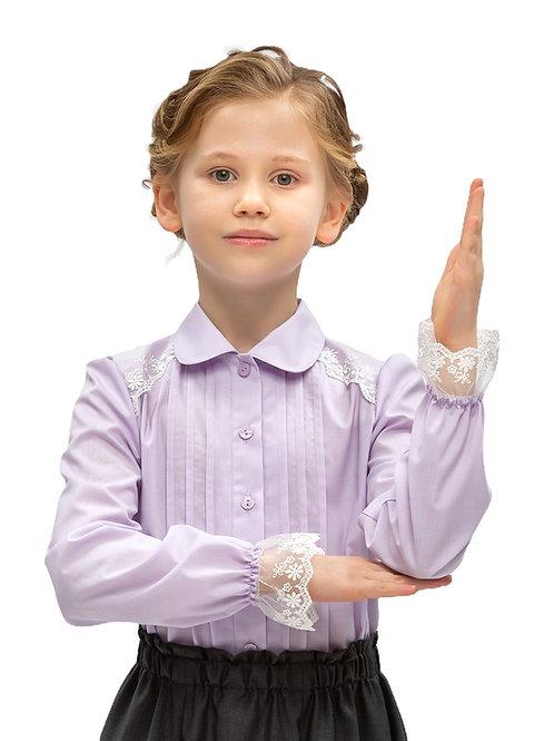 Блузка для девочки с кружевом