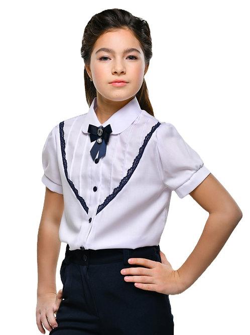 школьная блузка к синей форме