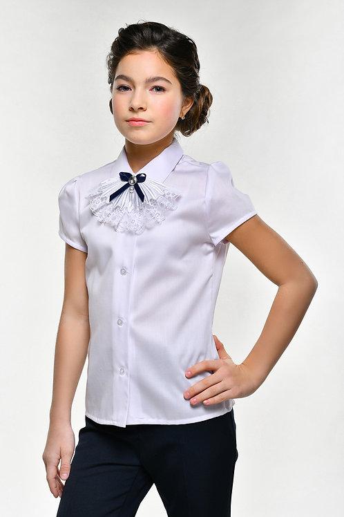 Классическая школьная блузка с жабо арт. 11810