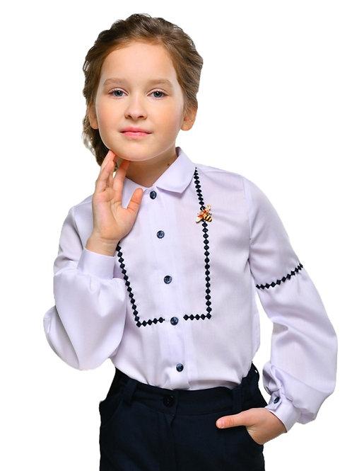 Блузка с длинным рукавом школьная