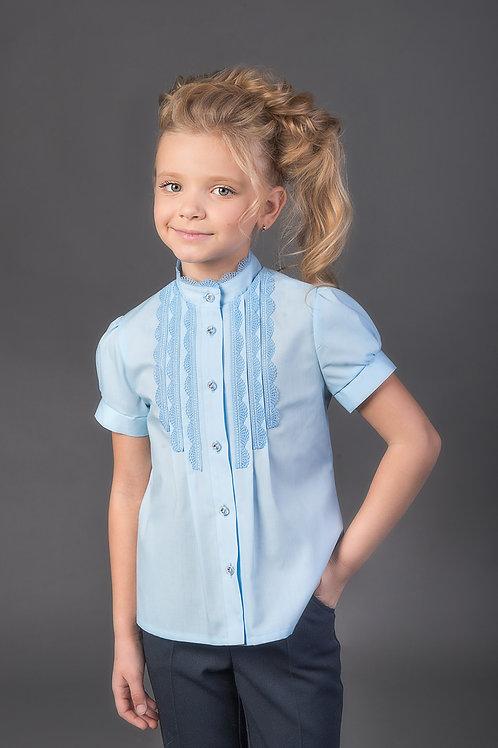 Блузка арт. 11102 голуб.