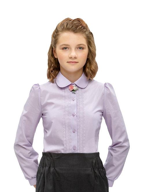 Нарядная лавандовая блузка