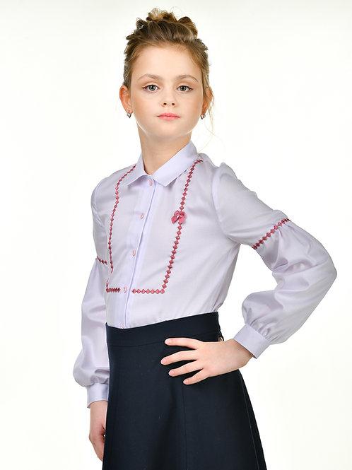 Блузка белая нарядная школьная