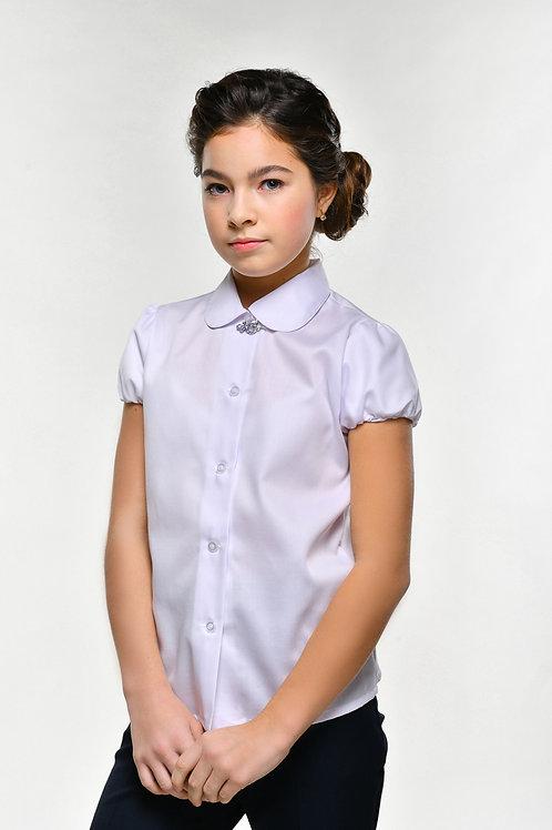 Белая классическая школьная блузка арт. 11823.