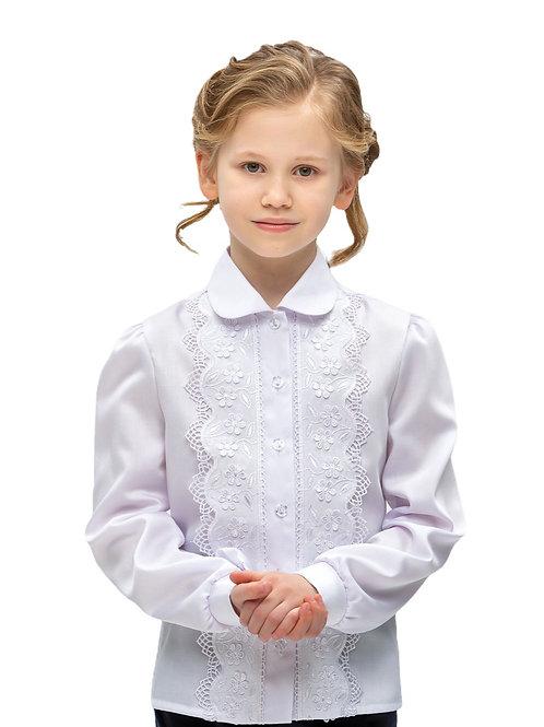 Белая кружевная блузка для школы