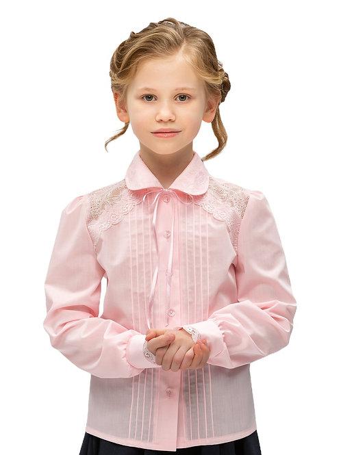 Розовая школьная блузка