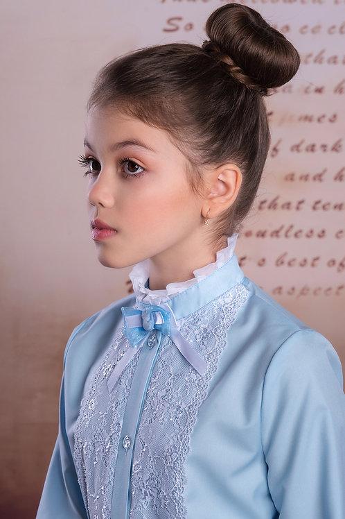 Блузка арт. 10041голуб.