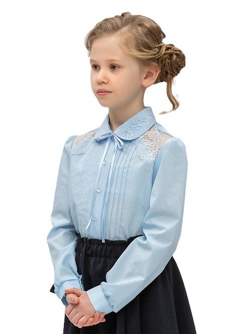 Голубая школьная блузка