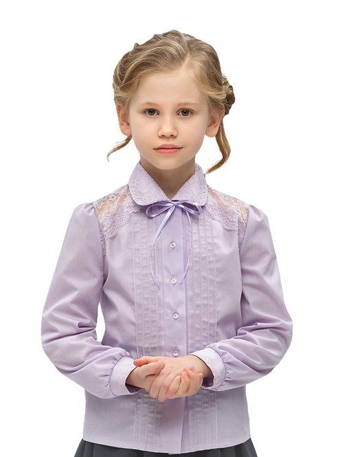 Школьная блузка лавандовая