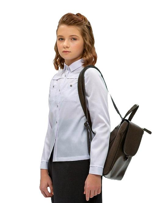 Блузка школьная для девочки белая. Подростковая.