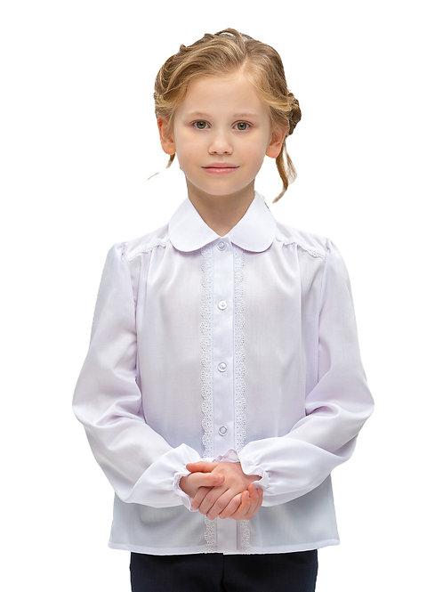 Блузка школьная свободная для девочки