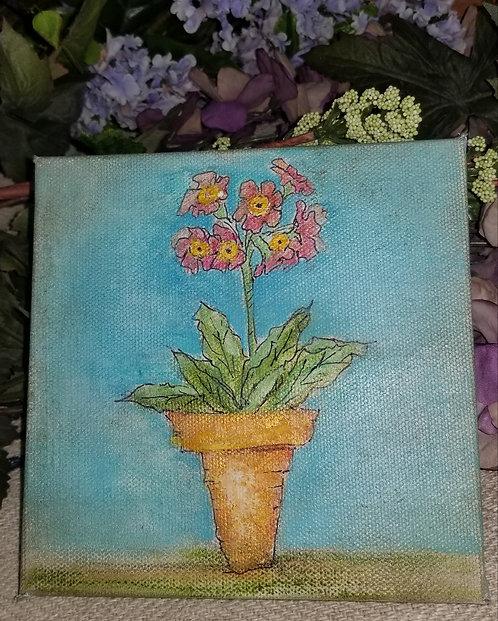 Potted Primrose Watercolor