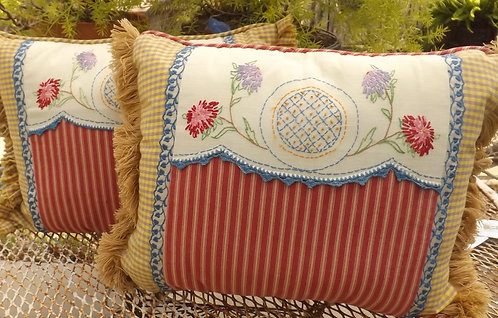 Country French accent pillow