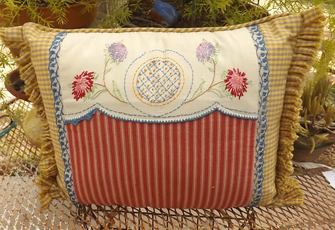 French Provencal accent pillow