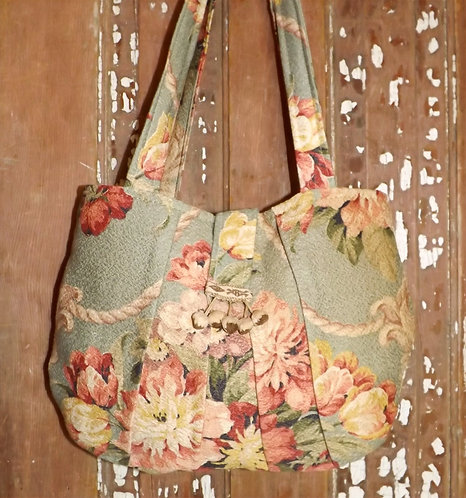 Medium Bark cloth Bag