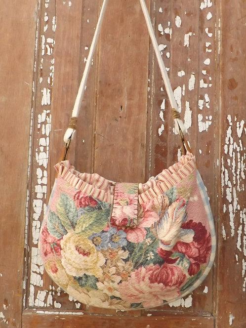 Gathered round tote bag
